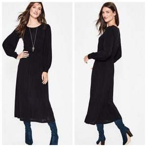 Boden women's black Zoe jersey midi dress US 8 reg